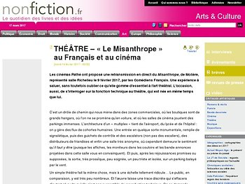 « Le Misanthrope » au Français et au cinéma