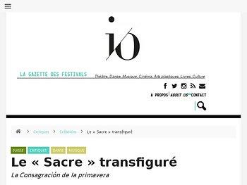 Le « Sacre » transfiguré