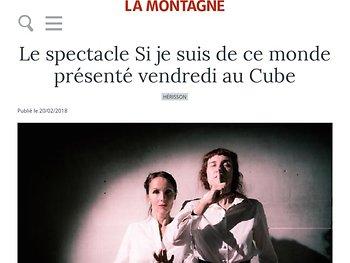 Un spectacle en français parlé et en langue des signes....