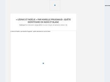 """""""Léonie et Noélie"""" : quête identitaire en noir et blanc"""