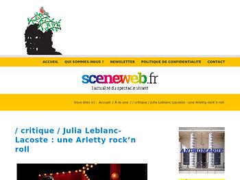 Julia Leblanc-Lacoste : une Arletty rock'n roll