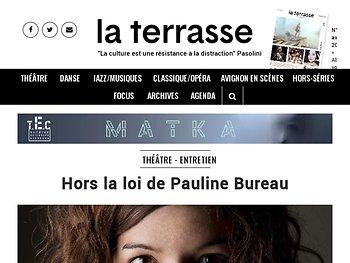 """""""Hors la loi""""  - Entretien avec Pauline Bureau"""