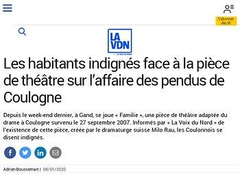 Les habitants indignés face à la pièce de théâtre sur l'affaire des pendus de Coulogne