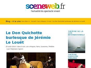 Le Don Quichotte burlesque de Jérémie Le Louët