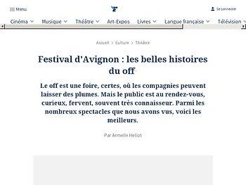 Festival d'Avignon : les belles histoires du off