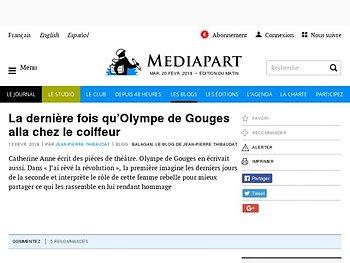 La dernière fois qu'Olympe de Gouges alla chez le coiffeur