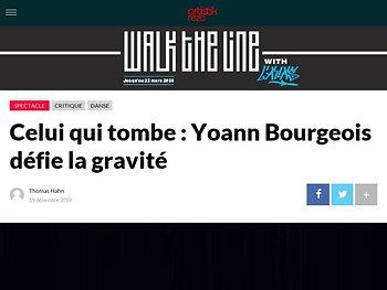 Celui qui tombe : Yoann Bourgeois défie la gravité