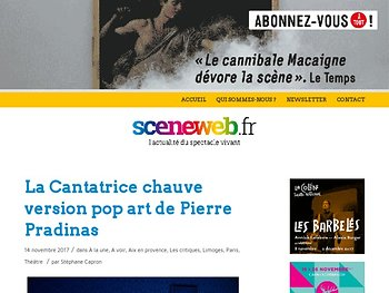 La Cantatrice chauve version pop art de Pierre Pradinas