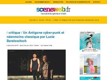 Un Antigone cyber-punk et néanmoins classique par Lucie Berelowitsch