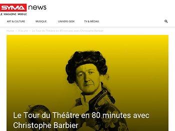 Le Tour du Théâtre en 80 minutes avec Christophe Barbier