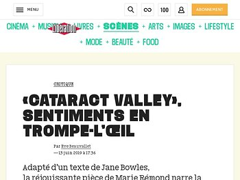 «Cataract Valley», sentiments en trompe-l'œil