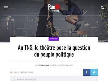 Au TNS, le théâtre pose la question du peuple politique