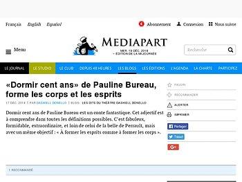 «Dormir cent ans» de Pauline Bureau, forme les corps et les esprits