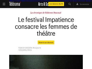 Le festival Impatience consacre les femmes de théâtre