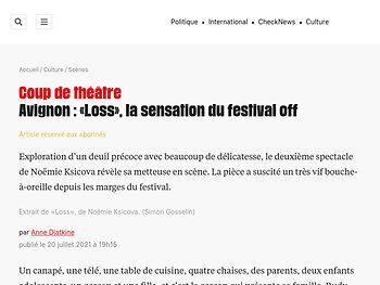 Avignon : «Loss», la sensation du festival off