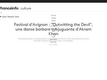 """Outwitting the Devil"", une danse barbare subjuguante d'Akram Khan"