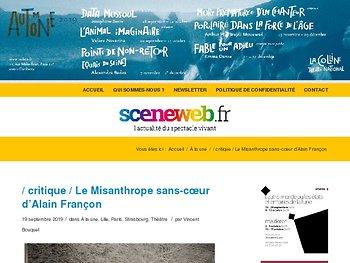 Le Misanthrope sans-cœur d'Alain Françon