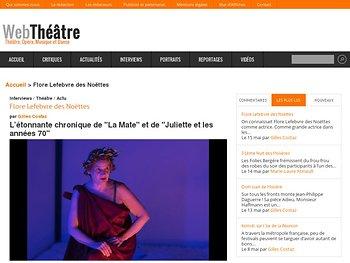 """L'étonnante chronique de """"La Mate"""" et de """"Juliette et les années 70"""""""