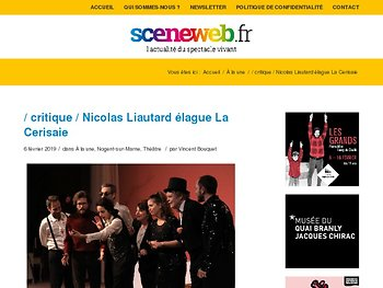 Nicolas Liautard élague La Cerisaie