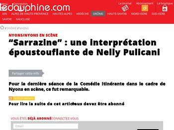 """""""Sarrazine"""" : une interprétation époustouflante de Nelly Pulicani"""