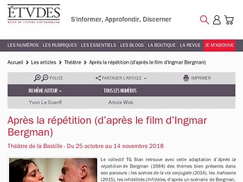"""""""Après la répétition"""" (le déploiement d'un imaginaire baroque"""