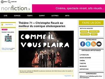 Christophe Rauck au meilleur du comique shakespearien