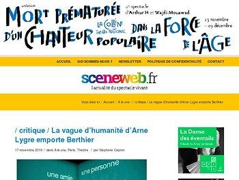 La vague d'humanité d'Arne Lygre emporte Berthier