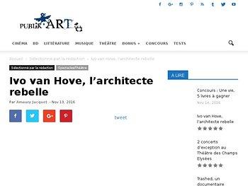 Ivo van Hove, l'architecte rebelle