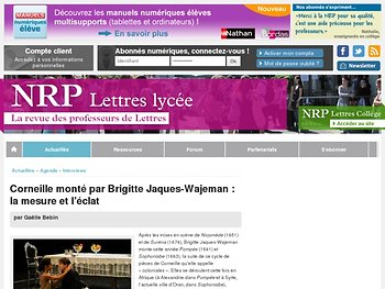 Corneille monté par Brigitte Jaques-Wajeman : la mesure et l'éclat