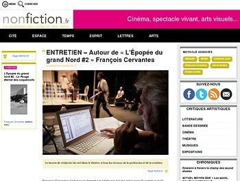 Entretien –:  Autour de « L'Épopée du grand Nord #2 » François Cervantes