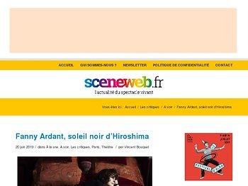 Fanny Ardant, soleil noir d'Hiroshima