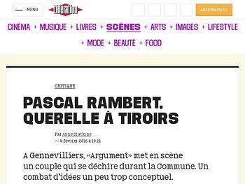 Pascal Rambert, querelle à tiroirs