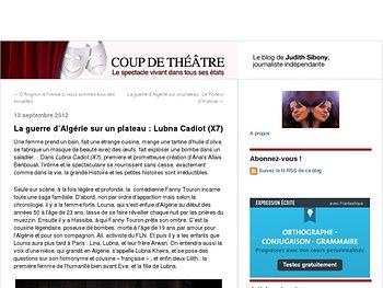 La guerre d'Algérie sur un plateau : Lubna Cadiot (X7)