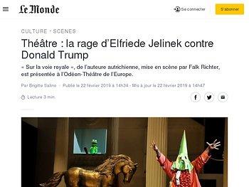La rage d'Elfriede Jelinek contre Donald Trump