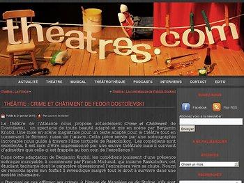 Théâtre : Crime et châtiment de Fedor Dostoïevski