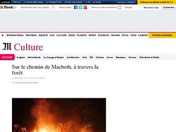 « Macbeth », de nuit et en forêt