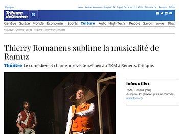 Thierry Romanens sublime la musicalité de Ramuz