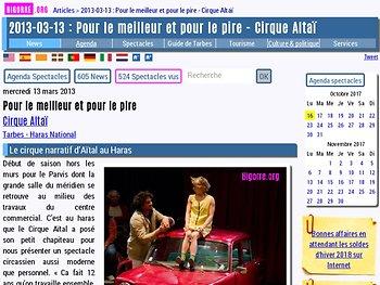 Le cirque narratif d'Aïtal au Haras