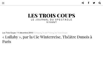 Revivre par la scène : « Lullaby », Théâtre Dunois à Paris