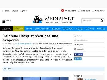 Delphine Hecquet n'est pas une évaporée