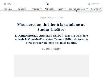 Massacre, un thriller à la catalane au Studio Théâtre