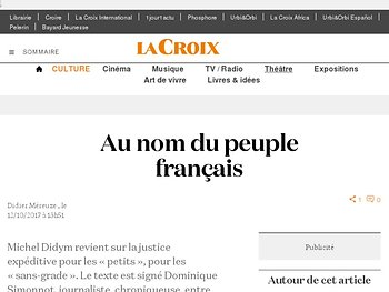 Au nom du peuple français