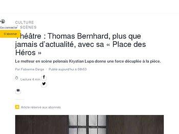 Thomas Bernhard, plus que jamais d'actualité, avec sa «Place des Héros»