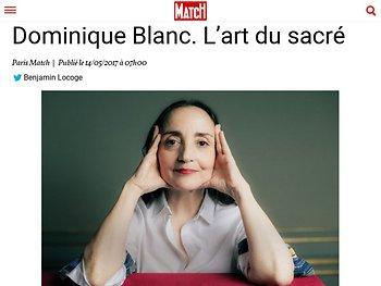 Dominique Blanc. L'art du sacré