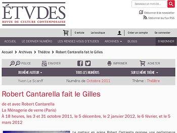 Robert Cantarella fait le Gilles