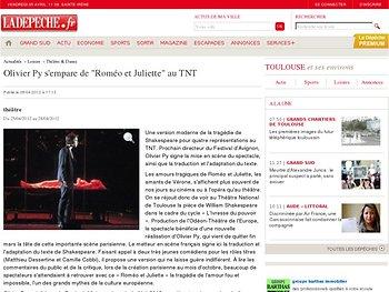 """Olivier Py s'empare de """"Roméo et Juliette"""" au TNT"""