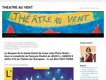 Le Banquet de la Sainte-Cécile De et par Jean-Pierre Bodin – Avec la complicité de François Chattot du JEUDI 4 > SAMEDI 6 JUIN à 21H au Théâtre de l'Européen – 5, rue Biot 75017 PARIS -