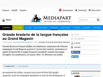 Grande braderie de la langue française au Grand Magasin