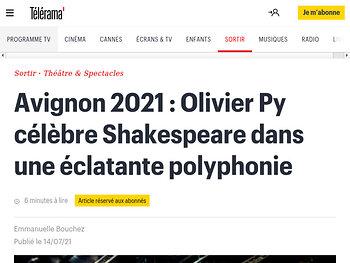 Olivier Py célèbre Shakespeare dans une éclatante polyphonie