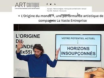 « L'Origine du monde », une performance artistique de la compagnie La Vaste Entreprise